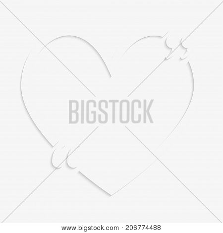 Vector Quote Blank Template Red Quote Heart Bracket.