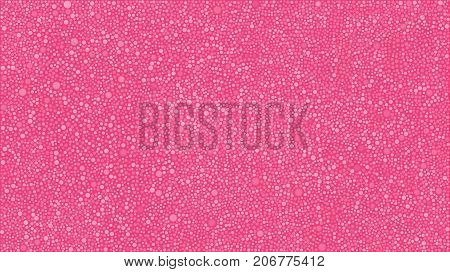 Abstract Background with Pink Bubbles Circles on Pink Background. Random Dots for your Amazing Design.