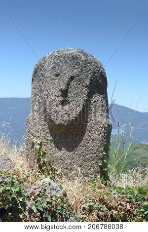 Menhir In Park Filitosa Corsica France