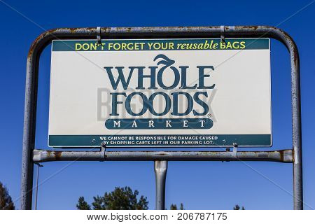 Indianapolis - Circa September 2017: Whole Foods Market. Amazon announced an agreement to buy Whole Foods for $13.7 billion IX