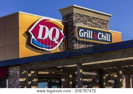 Indianapolis - Circa September 2017: Dairy Queen Retail Fast Food Location. DQ is a Subsidiary of Berkshire Hathaway IX