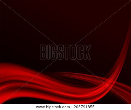 dark calm smooth background with red smooth stripes