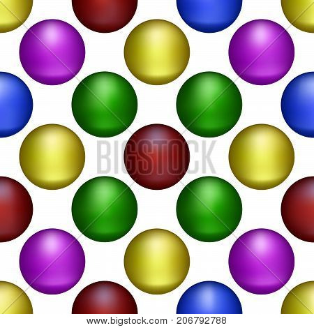 Multicolored Balls form the Seamless Abstract Background.