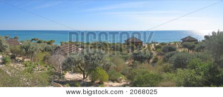 Bungalows In The Desert In Front Of The Sea, Anakao, Madagascar, Panoramique