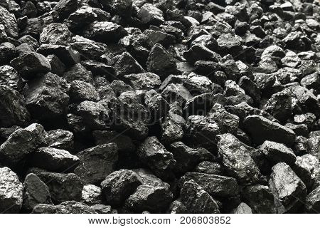 Natural Black Coals For Background.