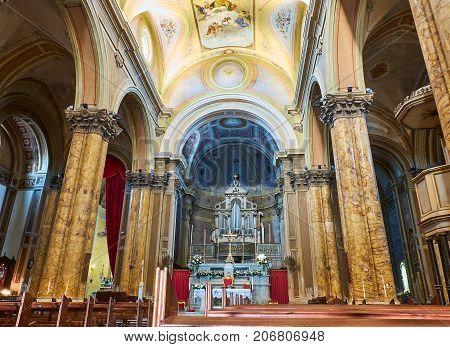 Madre San Pietro E Paolo Church. Galatina, Apulia, Italy.