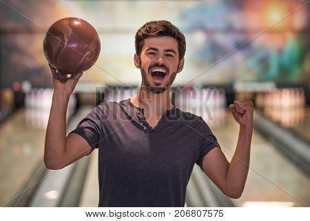 Man Playing Bowling
