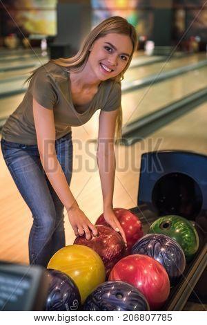 Girl Playing Bowling
