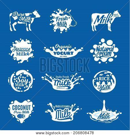 Milk Logo, Icons And Design Elements
