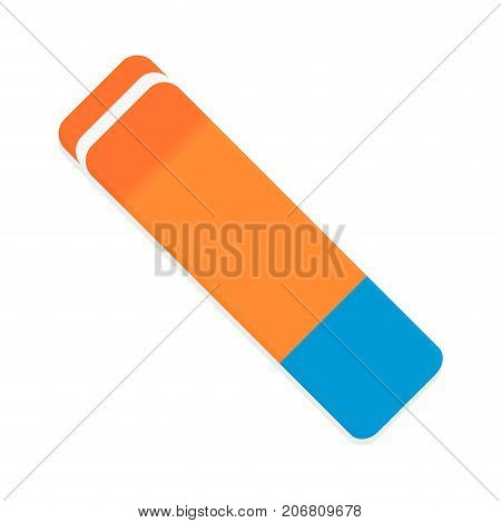 Eraser vector isolated. Rubber and pencil eraser illustration of eraser for pencil