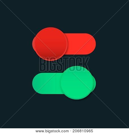 switch off on slider  button vector control panel icon