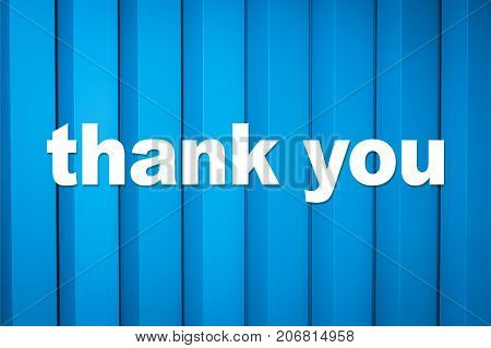 thank you card - thank you text on blue background