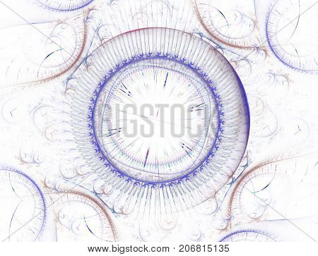 Time Machine. Mechanism of eternity.3D surreal illustration. Fractal Time series. Composition of clock and fractal elements with metaphorical relationship to time science and modern technology. Fractal artwork abstraction of a clockwork a time machine.