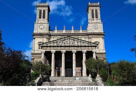 The Catholic Saint-Vincent de Paul church , Paris, France.