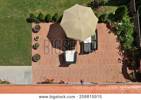 Garden Furniture From Above