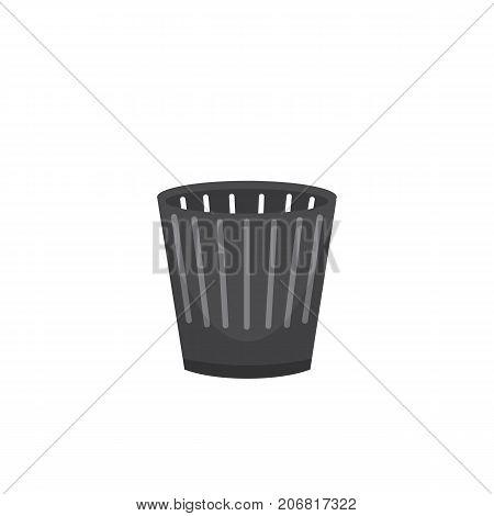 Trash bin garbage container and trash bin recycle symbol vector.
