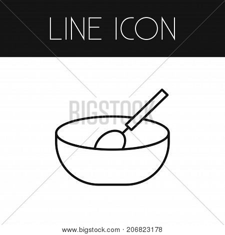 Bowl Vector Element Can Be Used For Cooking, Eating, Bowl Design Concept.  Isolated Cooking Outline.