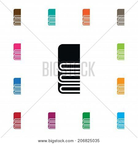 Bookshelf Vector Element Can Be Used For Library, Bookshelf, Books Design Concept.  Isolated Library Icon.