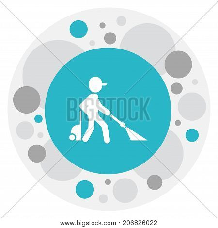 Vector Illustration Of Cleanup Symbol On Chemical Cleaning Icon