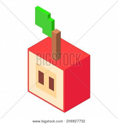 Slice apples icon. Isometric illustration of slice apples vector icon for web