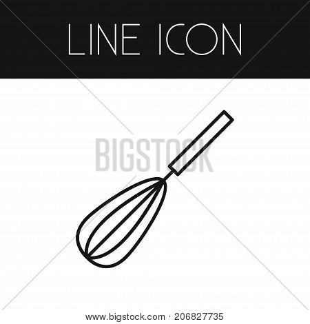 Mixing Vector Element Can Be Used For Churning, Mixing, Kitchenware Design Concept.  Isolated Whisk Outline.