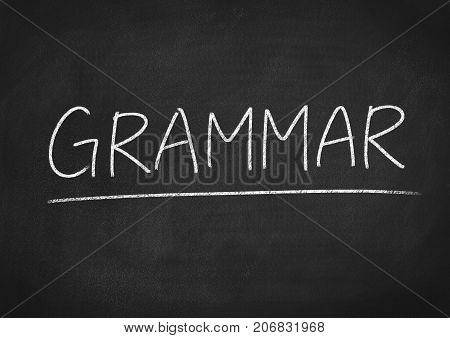 grammar concept word on a blackboard background