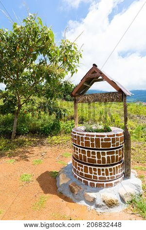 well of wishes in a public area of Latin America