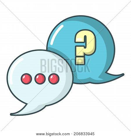 Dialog icon. Cartoon illustration of dialog vector icon for web