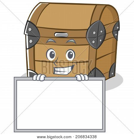Grinning with board chest character cartoon style vector illustration