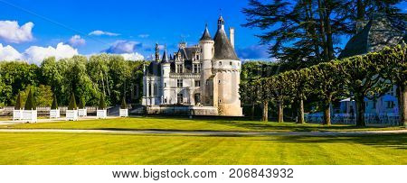 Elegant Chenonceau castle - beautiful castles of Loire valley in France