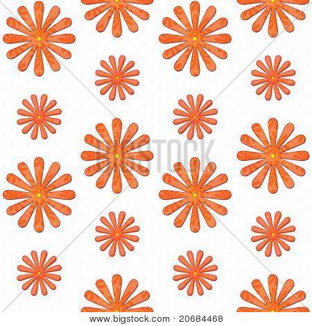 Orange Daisy Seamless Background