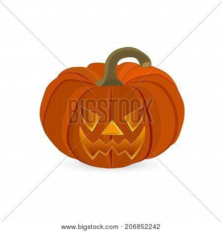 Wicked pumpkin for Halloween. Jack Lantern vector
