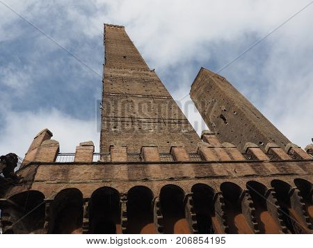Due Torri (two Towers) In Bologna