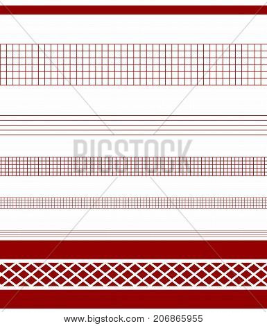 Perfect graphical seamless pattern. Geometrical texture. ornate seamless border in Eastern style.