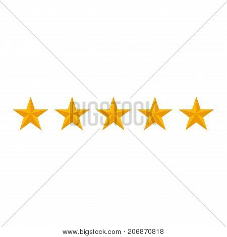 rating stars isolated on white background. Vector