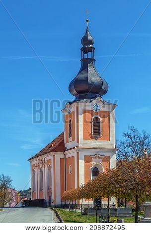 Church of St. Jacob (Kostel sv. Jakuba) in Kladruby Czech republic