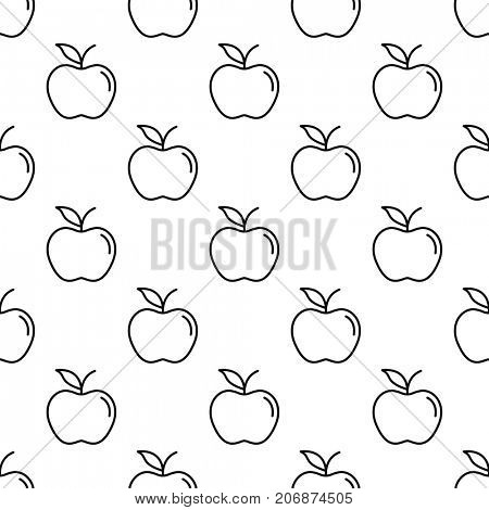 Pattern with thin line apples