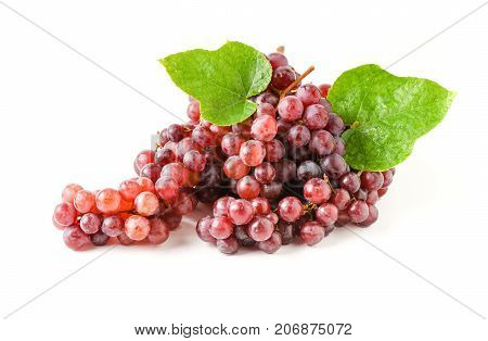 Champagne Grapes Isolated On White Background