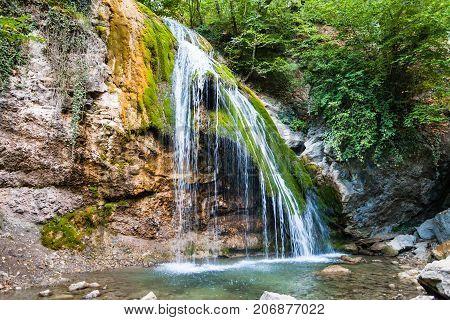 Djur-djur Waterfall On Ulu-uzen River In September