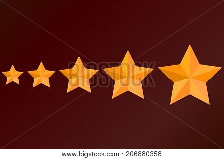 star, elite, epaulettes, status Vector A set of different sizes