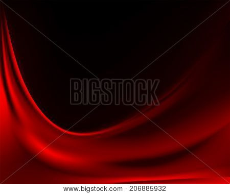 dark calm smooth background with red velvet fabric