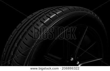 Tire Dark Background