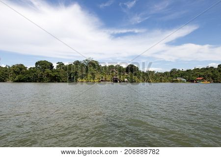 The River Rio Dulce in Guatemala sunny