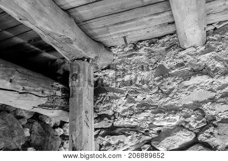 Wooden Contruction On An Old House