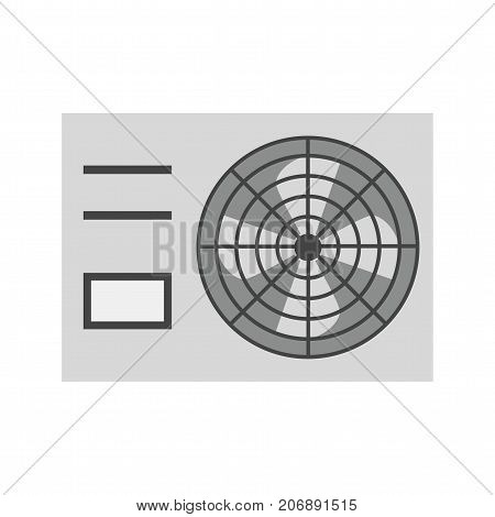 Air, conditioner, fan icon vector image. Can also be used for Climatic Equipment. Suitable for mobile apps, web apps and print media.