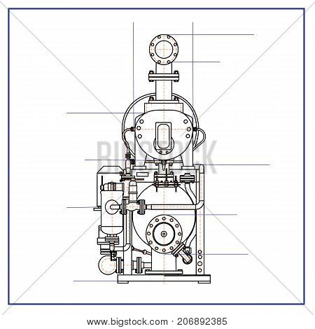 free drawing of a refrigerating machine .