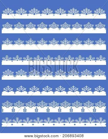 Set Of 8 Snowflake Borders