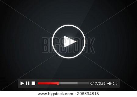 Payer video frame on the white background. Vector illustration