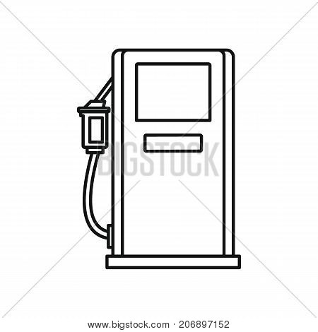 Petrol station icon. Black outline illustration of Petrol station vector icon for web isolated on white background