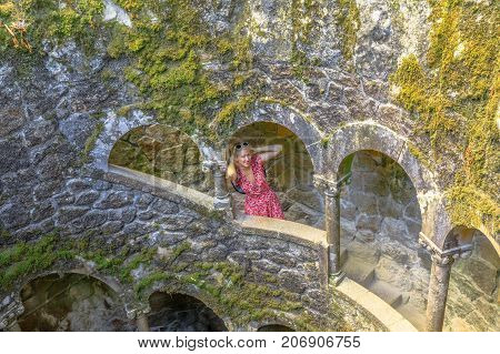 Woman Tourist In Sintra